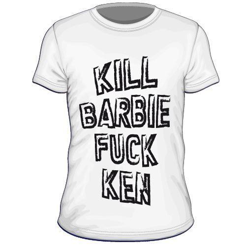 Maglietta personalizzata Kill barbie fuck ken