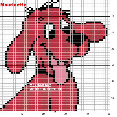 Clifford perler bead pattern by Mauricette