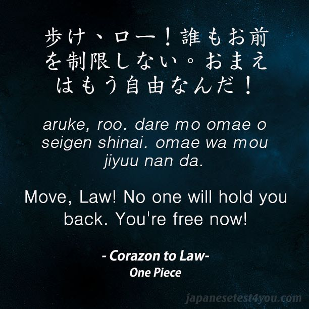 Learn Japanese with phrases from One Piece anime and manga: http://japanesetest4you.com/learn-japanese-quotes-from-one-piece-8/