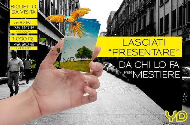 promozione biglietti da visita. per info: 392. 3648411               alessandra@yellowduck.it