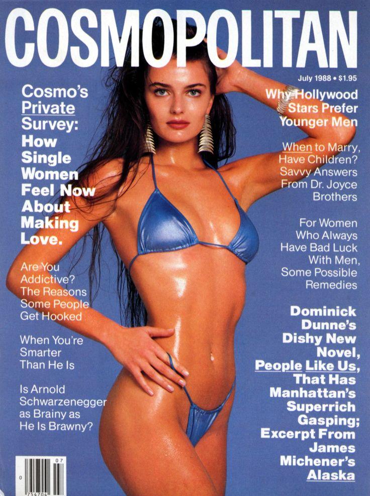 PAULINA PORIZKOVA |  COSMOPOLITAN  JULY, 1988 COVER