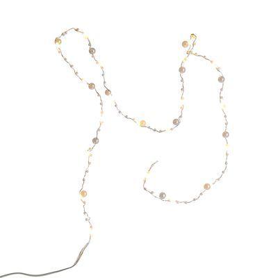 mini perline catena leggera, 20 LED, L: 100cm, bianco