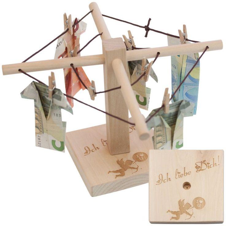 Geld-Wäschespinne mit Gravur - Dank der Geld-Wäschespinne können Sie Geldgeschenke zu allen Anlässen jetzt originell und witzig verpackt überreichen.