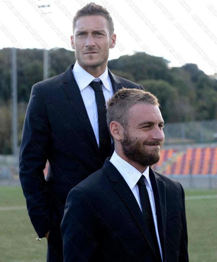 Totti and De Rossi at Philippe Plein event at Trigoria training grounds