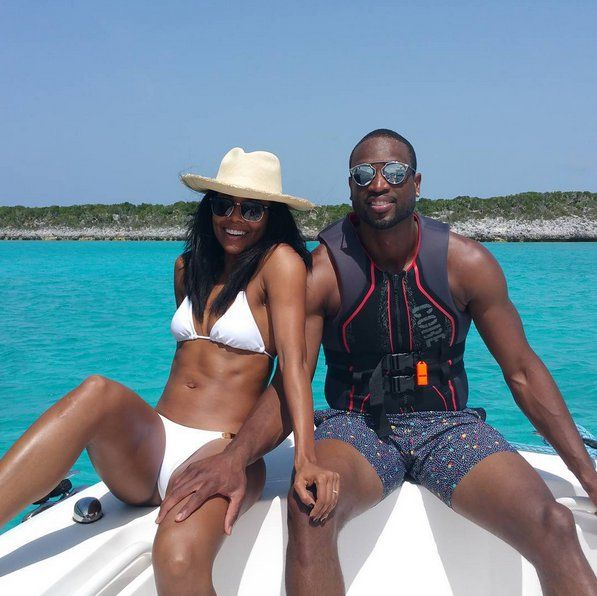 Pin for Later: Celebrity Summer Holidays That Are Sure to Make You Jealous Gabrielle Union Gabrielle and her husband, Dwyane Wade, took a sunny trip to the Caribbean in July.