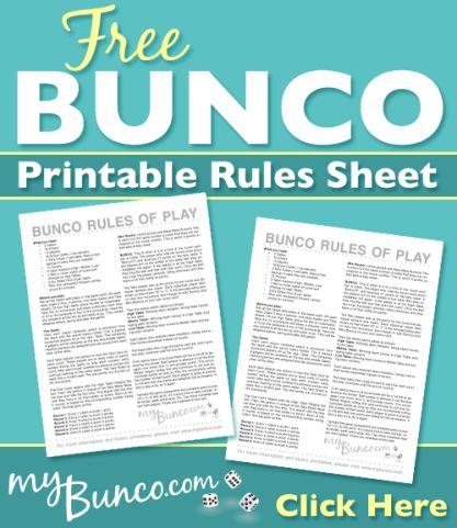 Free Bunco Printable Score Sheet