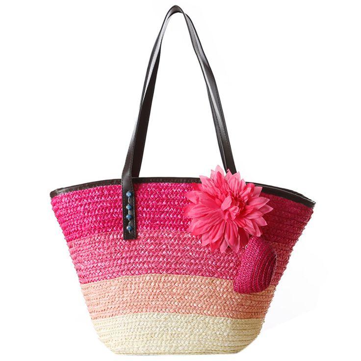$8.43 (Buy here: https://alitems.com/g/1e8d114494ebda23ff8b16525dc3e8/?i=5&ulp=https%3A%2F%2Fwww.aliexpress.com%2Fitem%2FKnitted-Straw-bag-Summer-flower-Bohemian-fashion-women-s-handbags-color-stripes-shoulder-bags-beach-bag%2F32794935893.html ) Knitted Straw bag Summer flower Bohemian fashion women's handbags color stripes shoulder bags beach bag big tote bags for just $8.43
