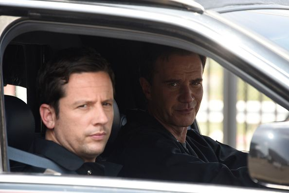 "WHITE COLLAR ""Au Revoir"" Episode 606: Ross McCall as Matthew Keller, Tim DeKay as Peter Burke."
