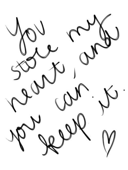 handwritten with love.