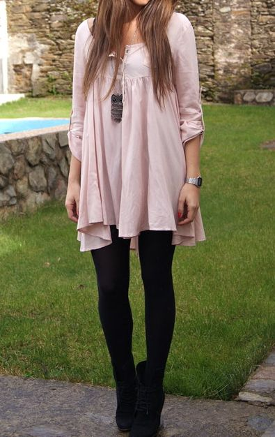 Long Blouse with Leggings.
