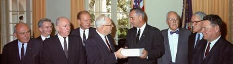 The Warren commission, formed Nov 24, 1963 by LBJ, took 10 months to selectively interview witnesses, and seek the truth of JFK's assassination. Their investigation resulted in 26 books of exhibits and testimony, and a one book summery/report, that was submitted to LBJ upon completion.