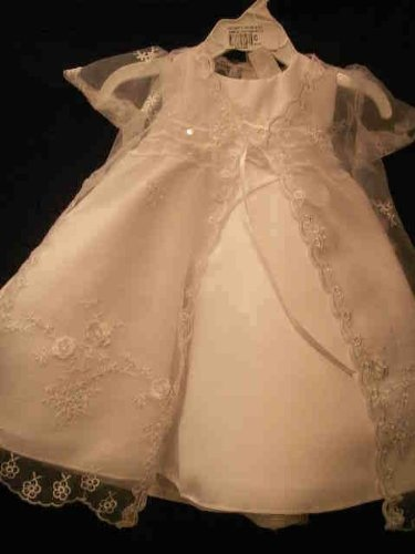 White Christening Baptism Gown Formal Dress Size « Dress Adds Everyday