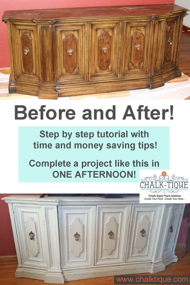 The ALTERNATIVE To Expensive Chalk Paints. Chalk Tique Turns Any Latex Paint  Into A Chalk Style Paint.