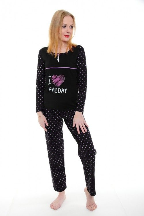Пижама А1783 Размеры: S, M, L, XL Цвет: черный Цена: 908 руб.  http://optom24.ru/pizhama-a1783/  #одежда #женщинам #пижамы #оптом24