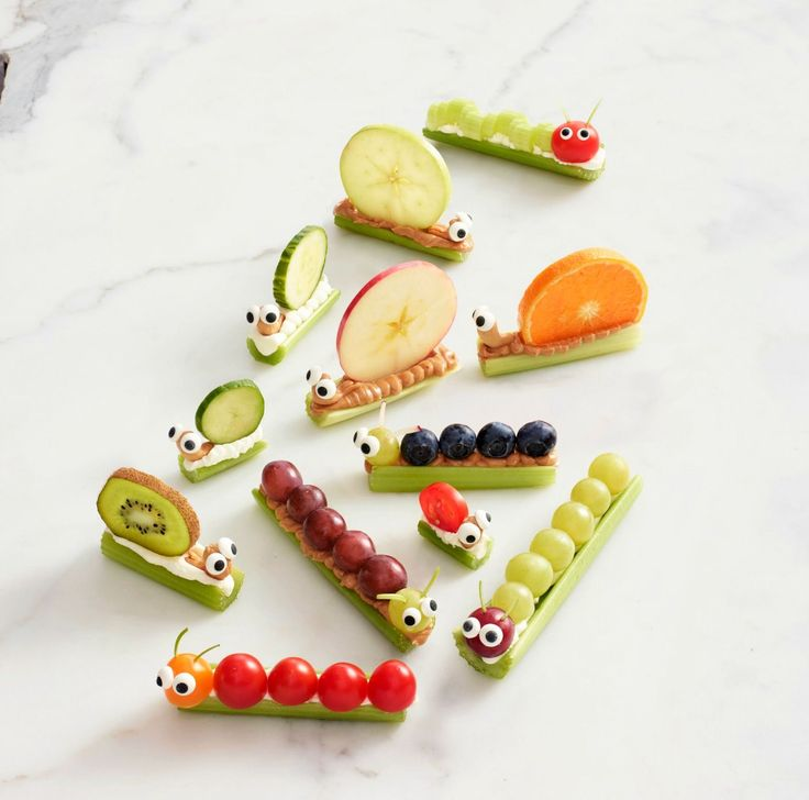 These adorable snacks take ants on a log to the next level | Celery Snails & Caterpillars | Women's Day