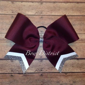 maroon and gold cheerleading bows - Google Search