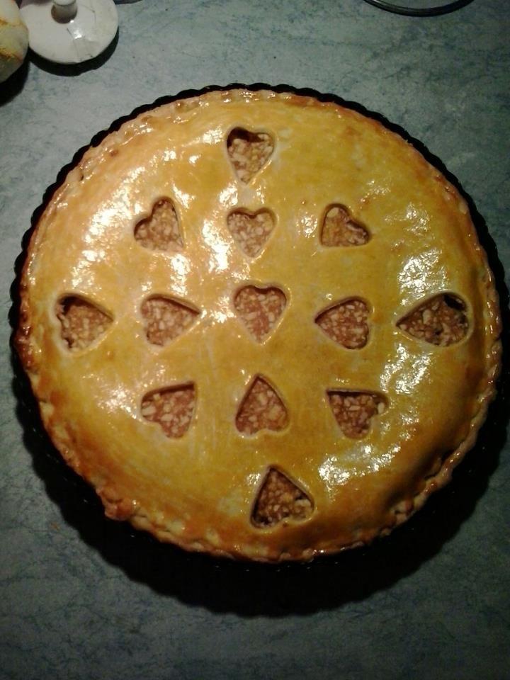 Valentin napi almás pite.