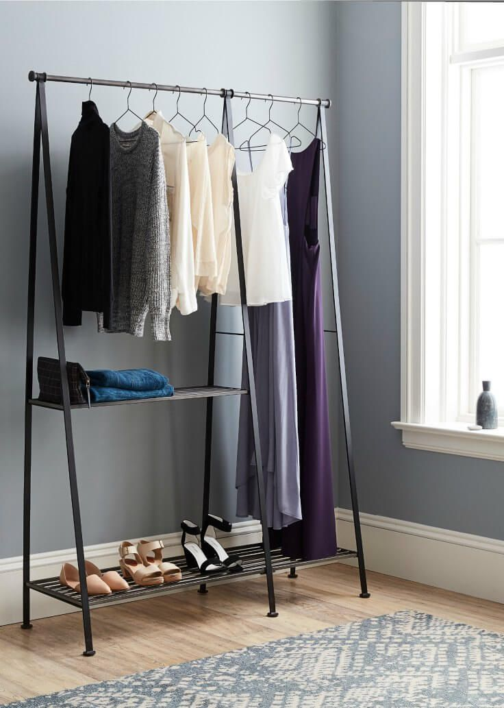 17 best ideas about clothes rack bedroom on pinterest - Bedroom furniture for hanging clothes ...