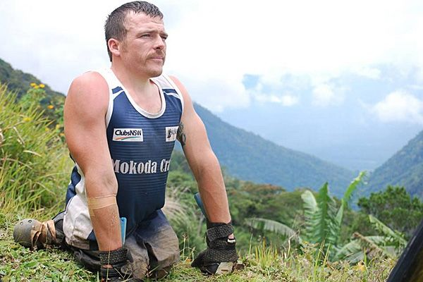 Paralympic athlete Kurt Fearnley trekked sixty miles of the rugged terrain of Papua New Guinea on his hands and knees on a mission to raise awareness of depression and men's health issues.