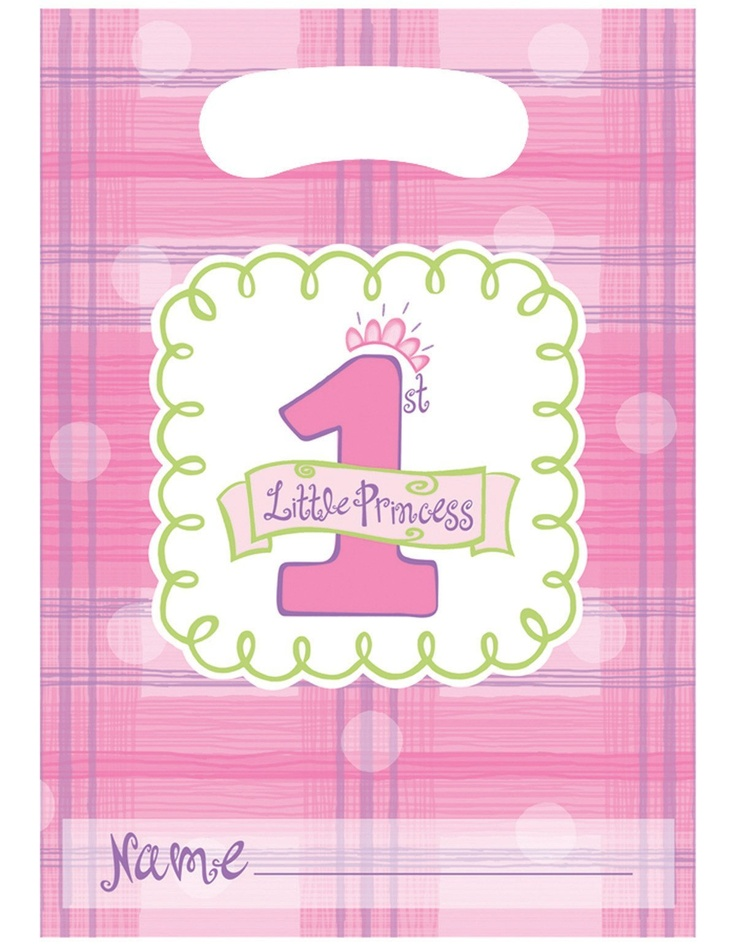 Creative Converting Celebrate 1 - Girl Favor Bags - 8 ct  #yoyobirthday: Babies, Girls, 1St Birthday Parties, First Birthday Parties, Party Supplies, First Birthdays, 1St Birthdays, Birthday Party