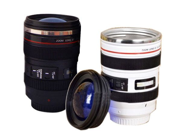 Creative Gift SLR Camera Lens Tea Coffee Cups and Mugs Thermos Stainless steel garrafa termica inox de para canecas tazas cafe