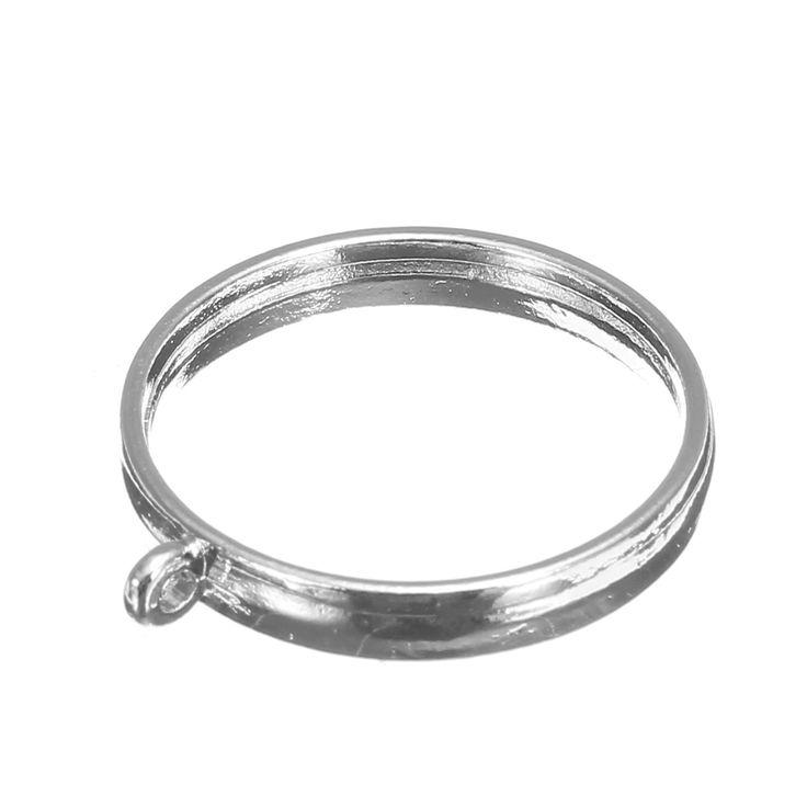 10Pcs 25mm Silver Pendant Trays Bezel Cabochon Setting Jewelry Blank Round Pendant
