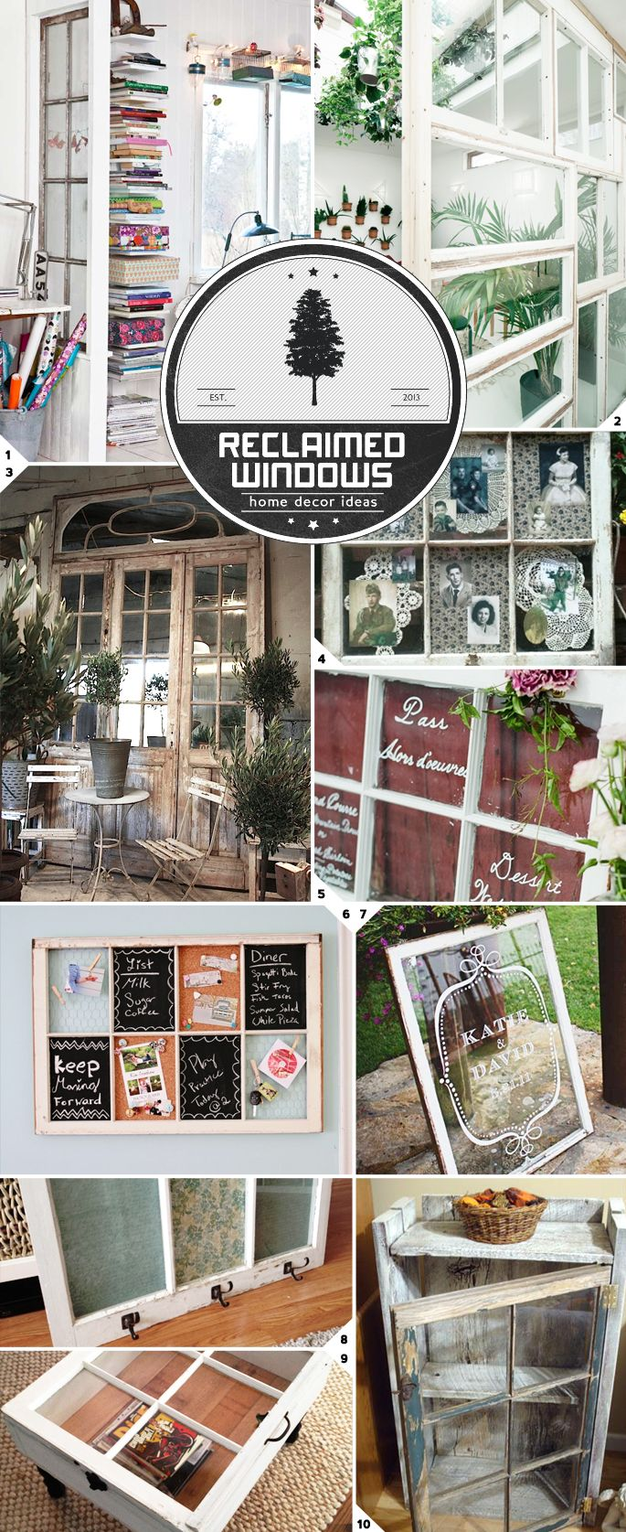 I had no idea there were so many project ideas for old windows. The creative people below have done everything from recycling them as room dividers to creating furniture pieces. Camouflaged  Reclaimed windows make great looking room dividers. Check out the rustic charm in picture (1), or the floor to ceiling reclaimed patchwork window arrangement […]