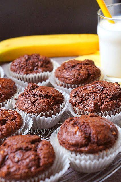 Kitchen Stori.es: Muffins Μπανάνας Διπλά Σοκολατένια