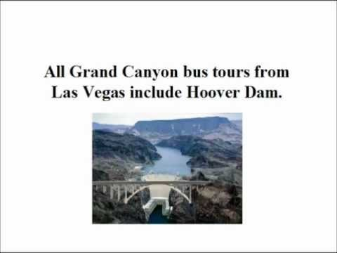Video walking through the key points about Grand Canyon bus tours from Las Vegas to the West Rim and the South Rim.
