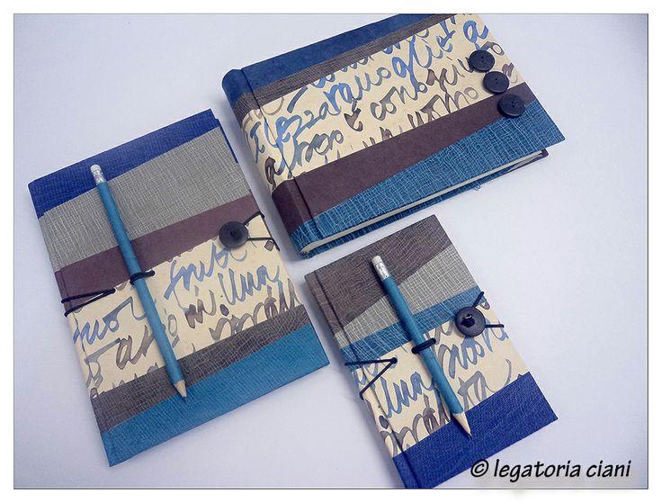 """Linea Ti Và - dai ritagli nuova vita. Quaderni e album realizzati con composizione di strisce in carta lokta vari colori. Ogni pezzo realizzato è sempre """"unico"""""""