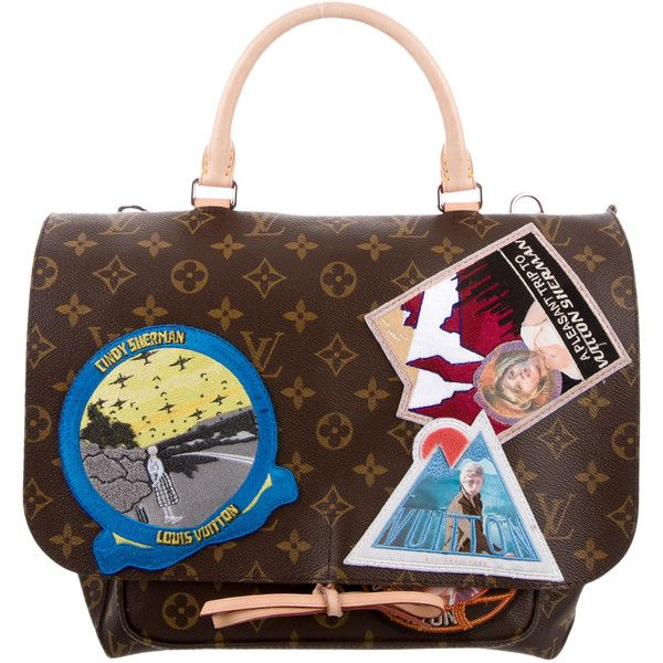 Pre-owned Louis Vuitton Cindy Sherman Camera Messenger Bag ($3,700) ❤ liked on Polyvore featuring bags, messenger bags, brown, coated canvas bag, monogrammed bags, courier bags, decorating bags and pocket bag