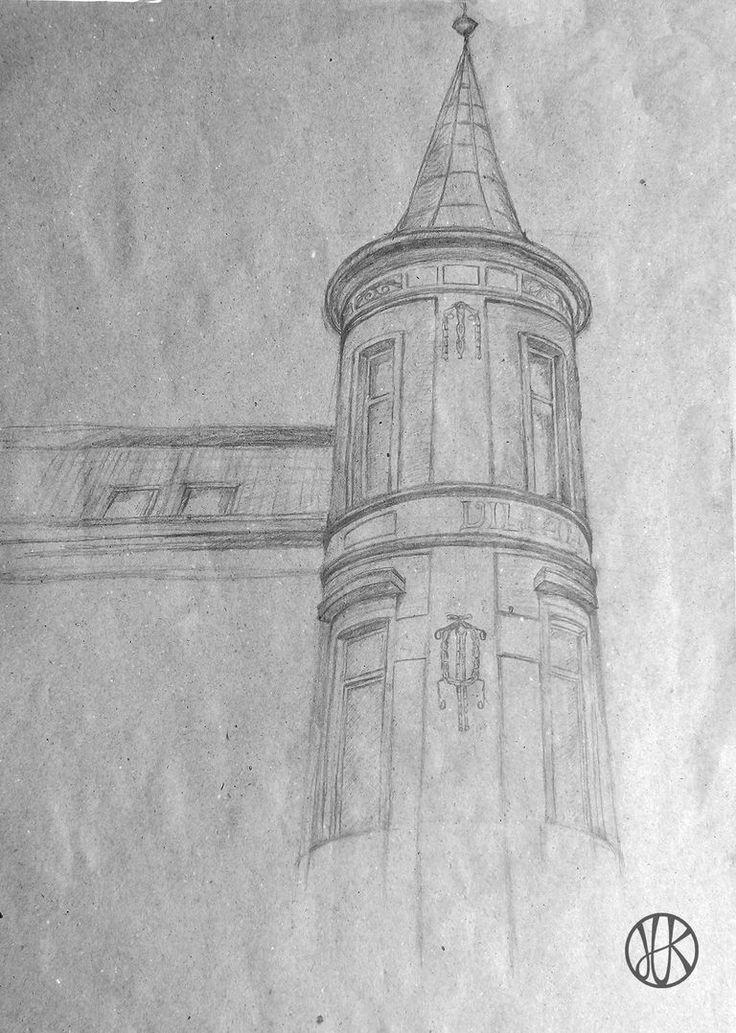 Drawing Building #drawing #building #ArtNouveau
