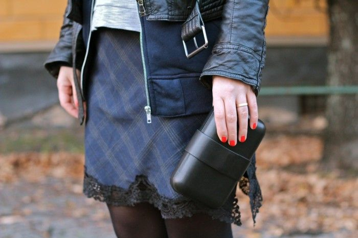 Zara dress and & other stories clutch