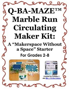 Help your students become makers and creators at home and at school by adding circulating maker / craft kits to your school or classroom library!  Use this makerspace product to create 2 marble run or maze building kits that students can check out.
