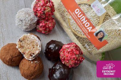 Fahéjas vegán quinoa sütés nélküli süteménygolyó (gluténmentes, tejmentes, tojásmentes, cukormentes, hozzáadott zsírtól mentes)