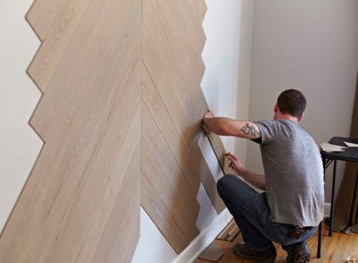 Stikwood. wood panels that easily stick to the surface//