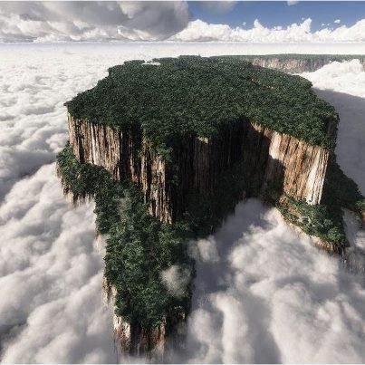 Monte Roraima in Venezuela, Brasil , and French Guyana