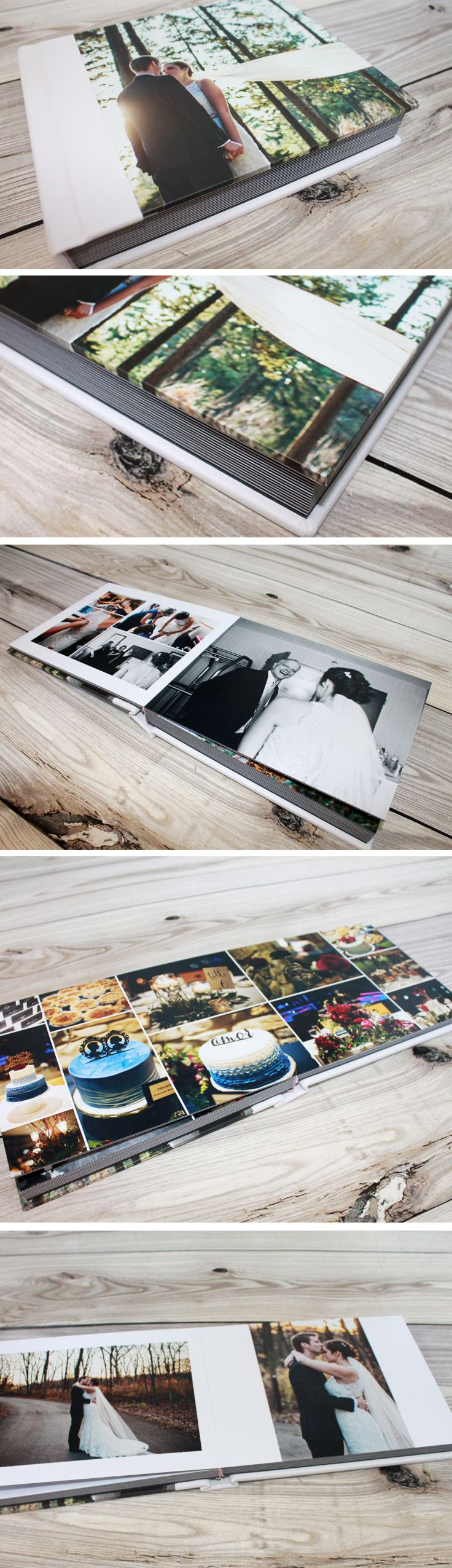 Magazine cover wedding album.  Price starts at $350 including wedding album design service with unlimited revisions.