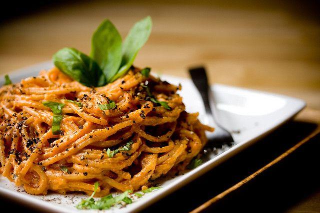 This was delicious! Vegan creamy tomato basil pasta.