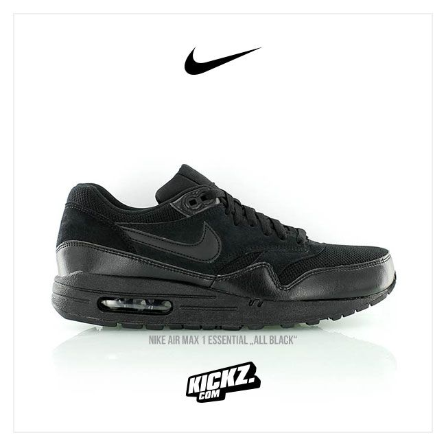 ALL BLACK EVERYTHING – NIKE AIR MAX 1 ESSENTIAL // Size US7+ - US14 /