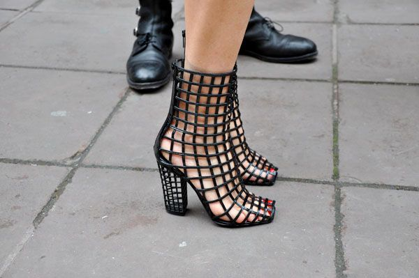5e539e7b917 ... Yves Saint Laurent - Cage Boot YSL cage shoes - yeah that looks  comfortable ...