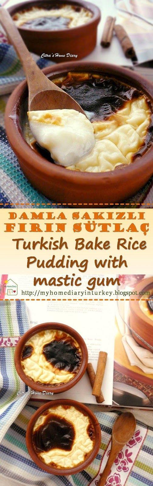 Damla Sakızlı Fırın Sütlaç (Turkish Rice Pudding with mastic gum). #turkishcuisine #ricepudding #dessert #tatlı