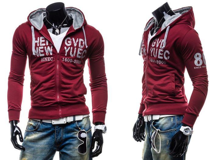 EMT 2007 - BORDOWY BORDOWY | On \ Bluzy męskie \ Bluzy z kapturem | Denley - Odzieżowy Sklep internetowy | Odzież | Ubrania | Płaszcze | Kurtki