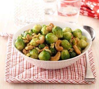 Spruiten met kerrie en cashewnoten - Recept - Jumbo Supermarkten