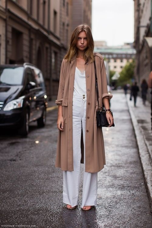 Rodebjer Odessa jacket snapped by Stockholm Streetstyle.  Love the drapey oversized jacket and the white on white under layer.