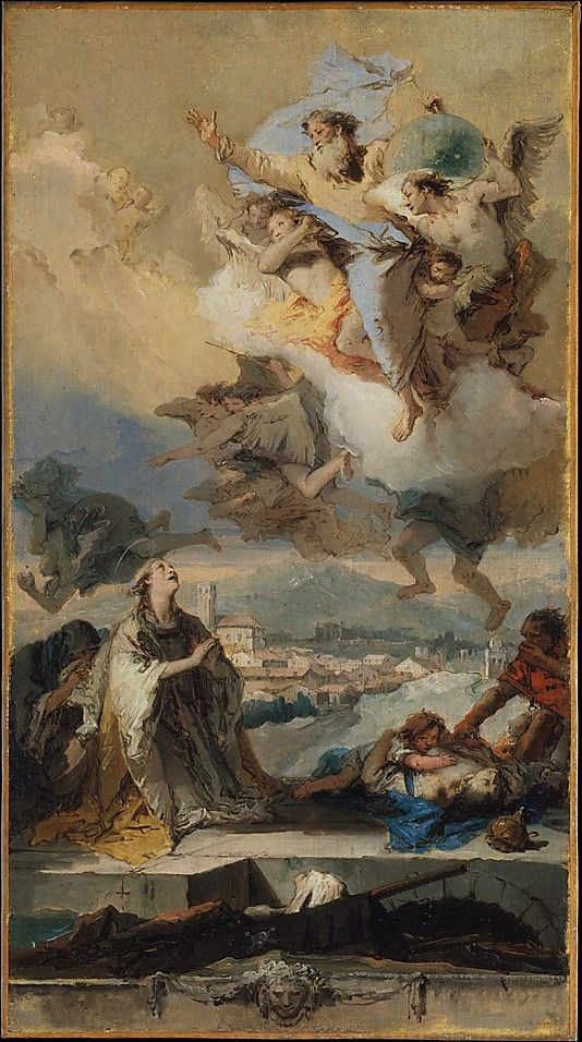 Saint Thecla Praying for the Plague-Stricken