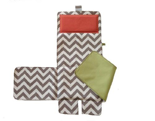 Messy Marvin Wipeable Changing Pad 3 in 1 (Green/Hot Red pillow please) Messy Marvin