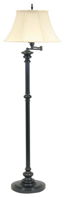 House of Troy N604 Floor Swing Arm Lamp from the Newport Collection Oil Rubbed Bronze Lamps Floor Lamps Swing Arm Lamps