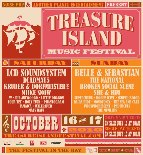 Treasure Island Music Festival  Schedule