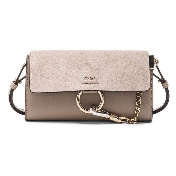 Chloe Leather Faye Strap Wallet (10.592.540 IDR) ❤ liked on Polyvore featuring bags, wallets, handbags, pink bag, chloe wallet, hardware bag, pink wallet and chloe bag